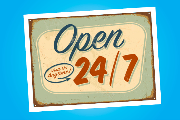 Open 24/7 Sign