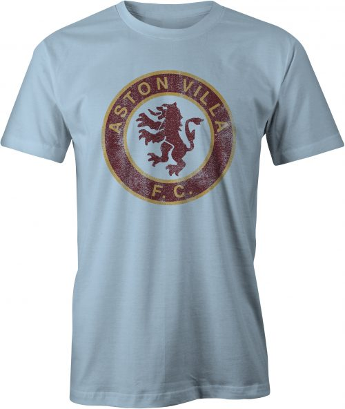 Aston Villa T Shirt Light Blue