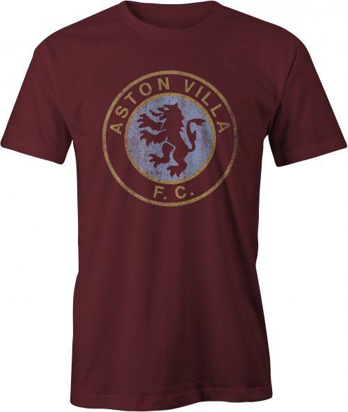 Aston Villa T Shirt Maroon