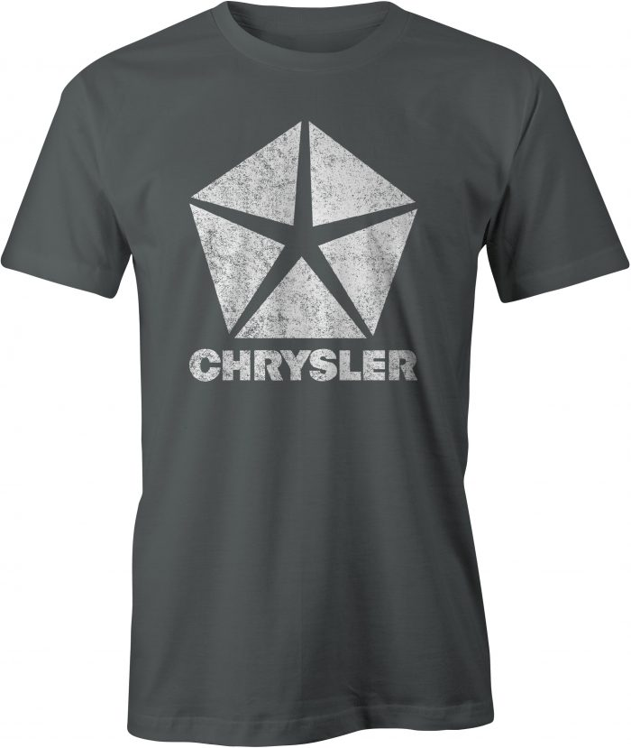 Chrysler Pentastar Logo T Shirt Charcoal
