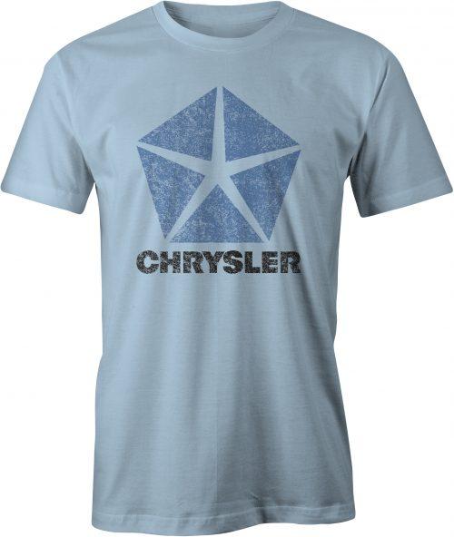 Chrysler Pentastar Logo T Shirt Light Blue
