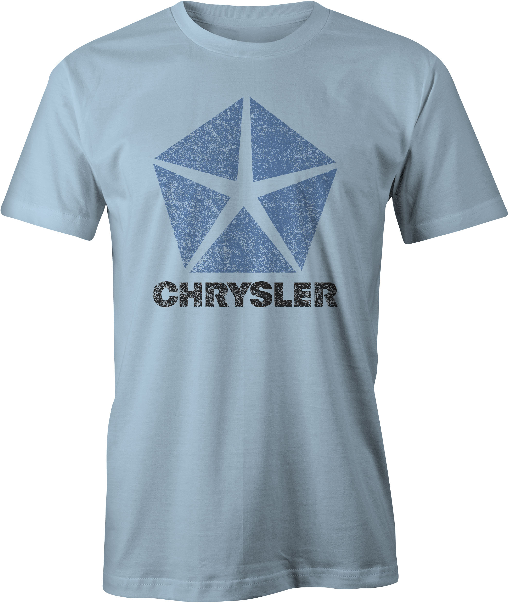 Chrysler Pentastar Logo T Shirt Light Blue