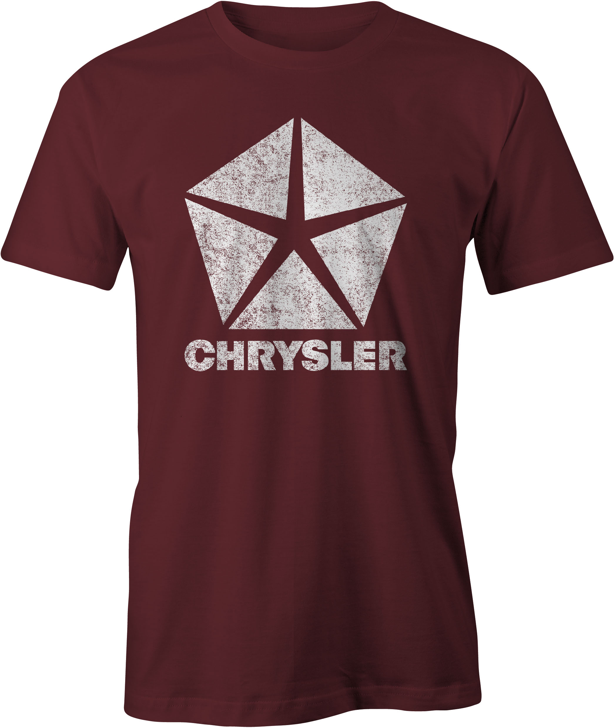 Chrysler Pentastar Logo T Shirt Maroon