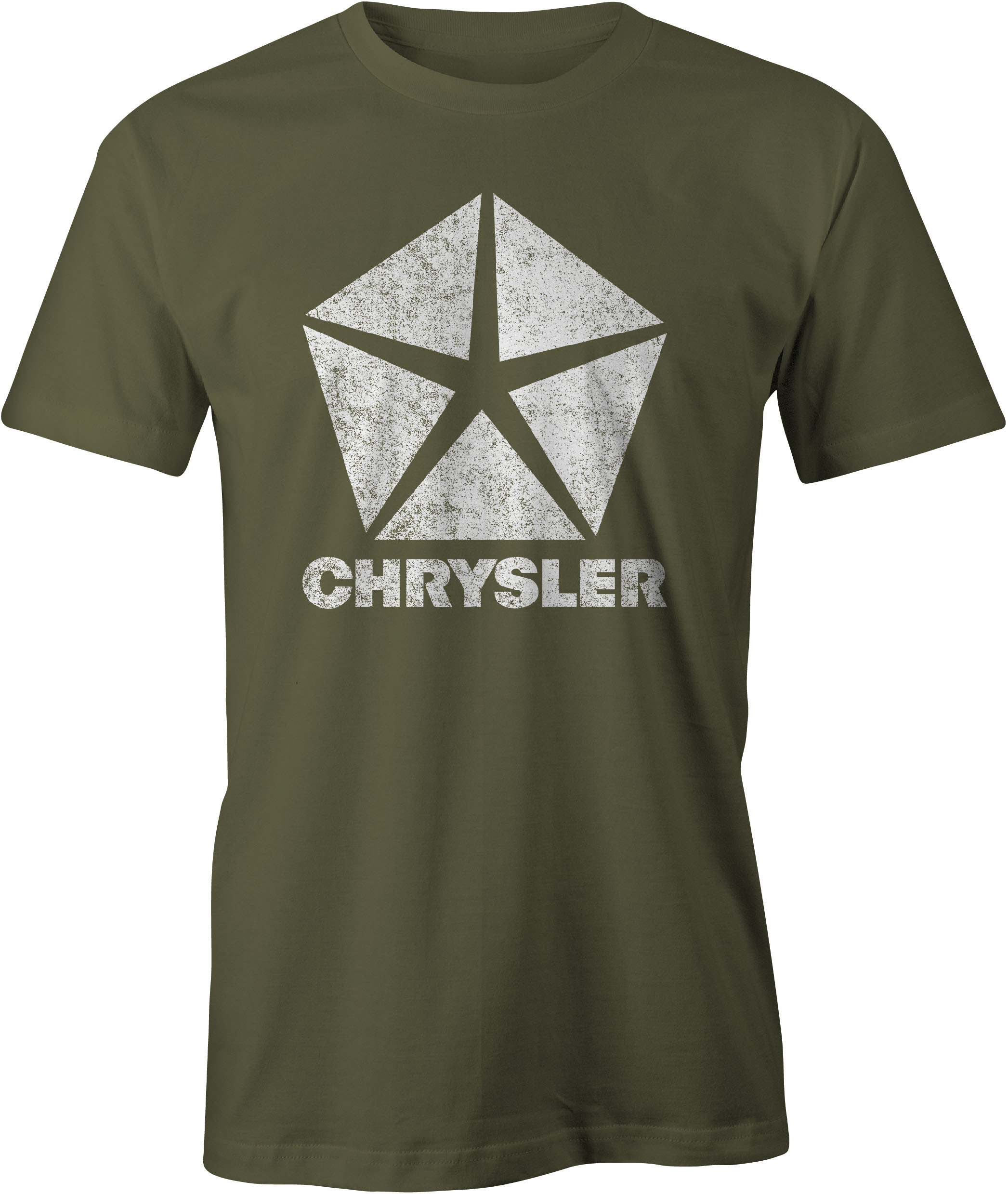 Chrysler Pentastar Logo T Shirt Military Green