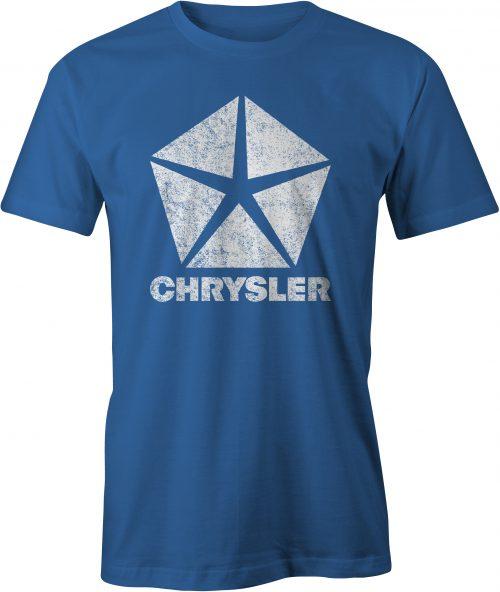 Chrysler Pentastar Logo T Shirt Royal Blue