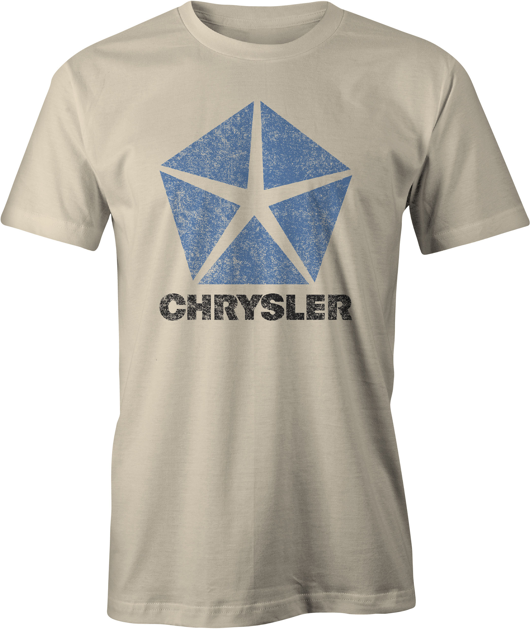 Chrysler Pentastar Logo T Shirt Sand