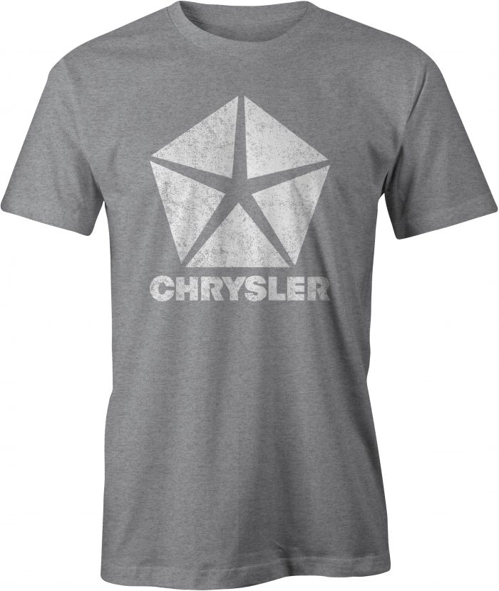 Chrysler Pentastar Logo T Shirt Sport Grey