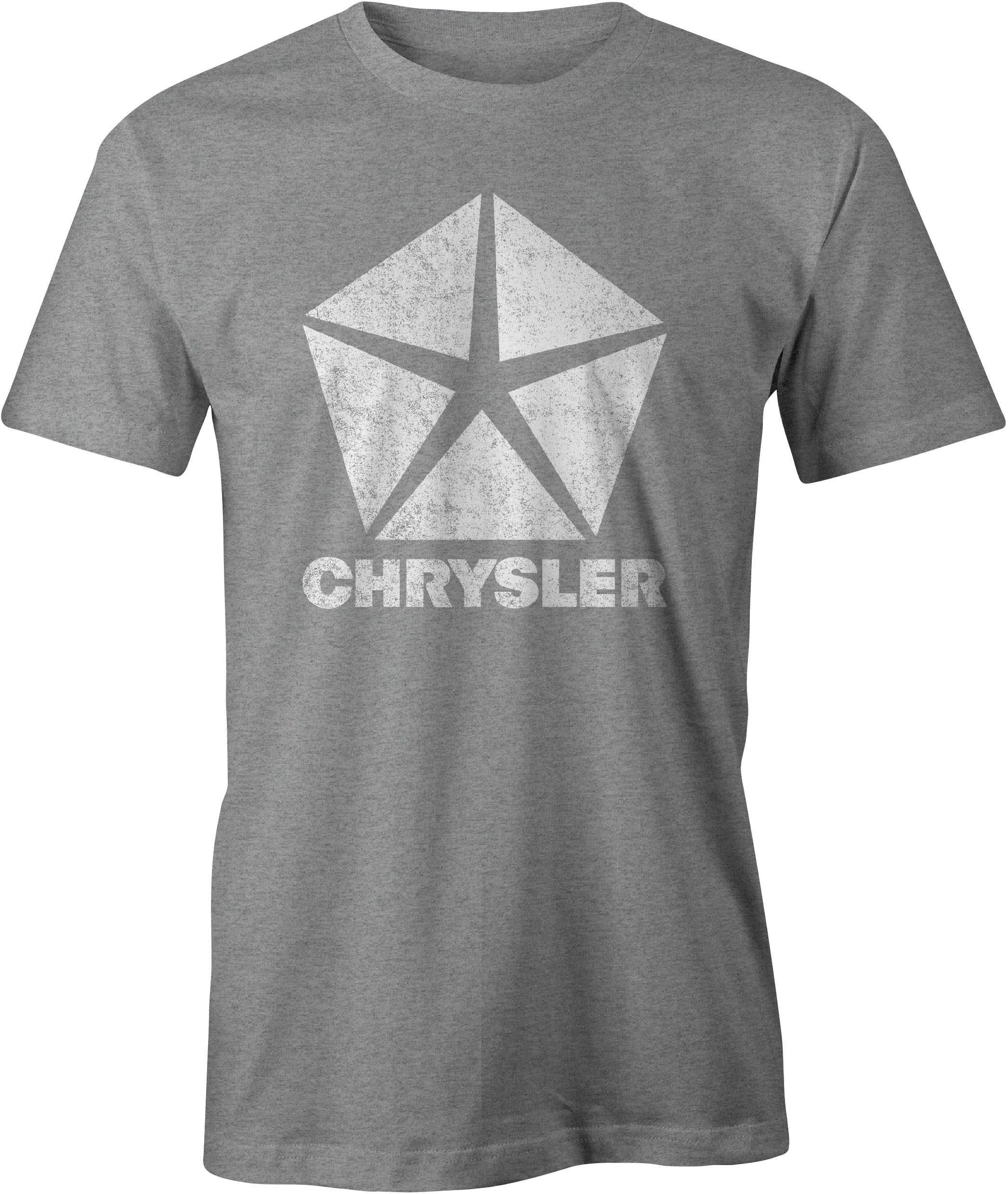 Chrysler Pentastar Logo T Shirt Sport Grey