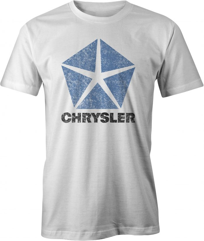 Chrysler Pentastar Logo T Shirt White