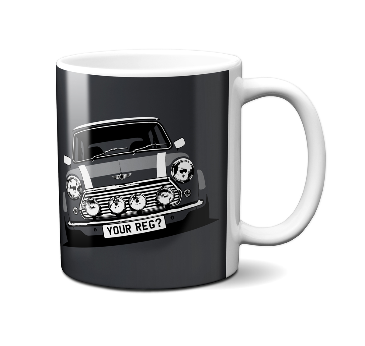 Mini Cooper Anthracite Mug