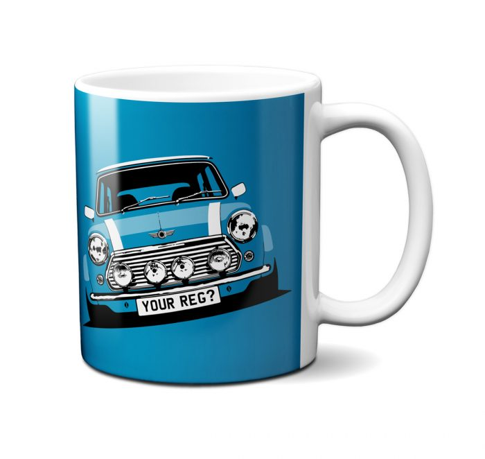 Mini Cooper Electric Blue Mug