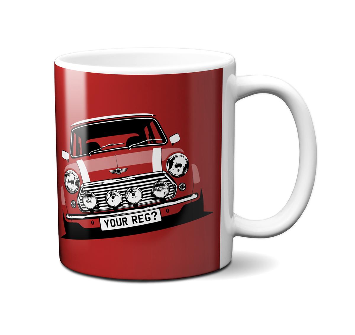 Mini Cooper Flame Red Mug