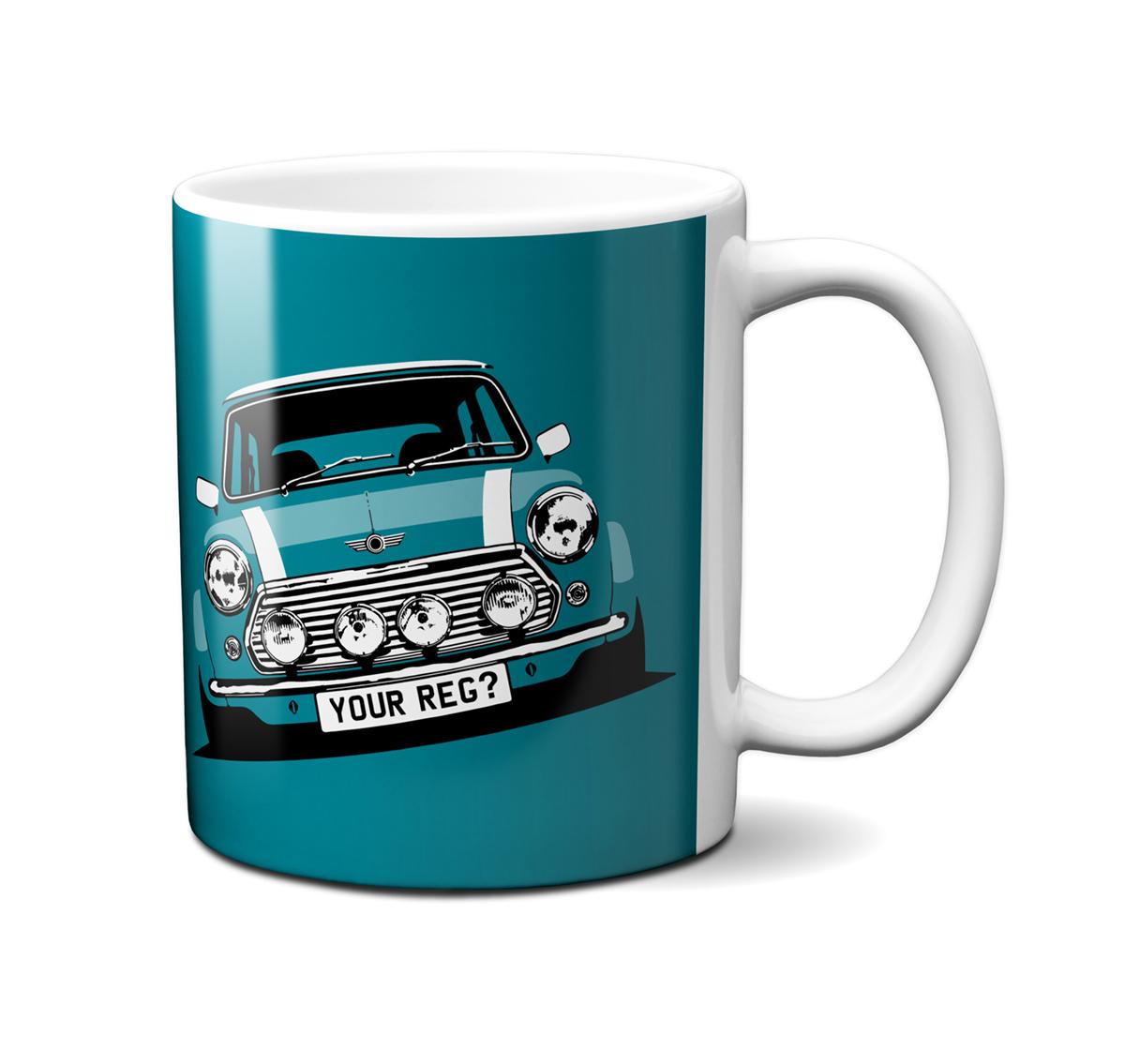 Mini Cooper Hawaiian Blue Mug
