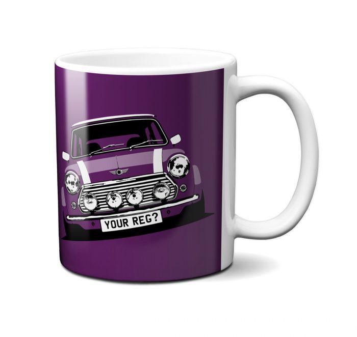 Mini Cooper Morello Purple Mug