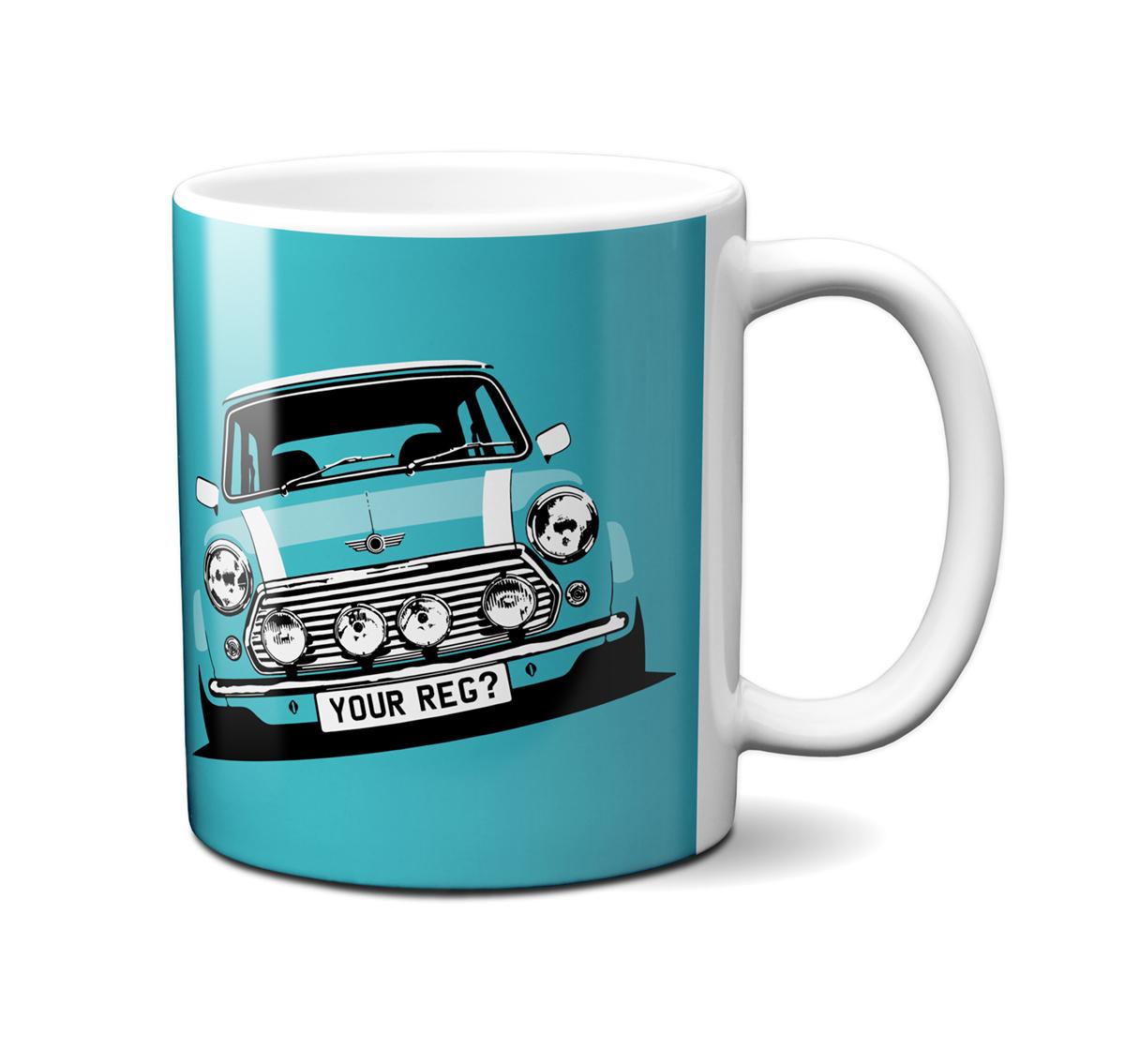 Mini Cooper Surf Blue Mug
