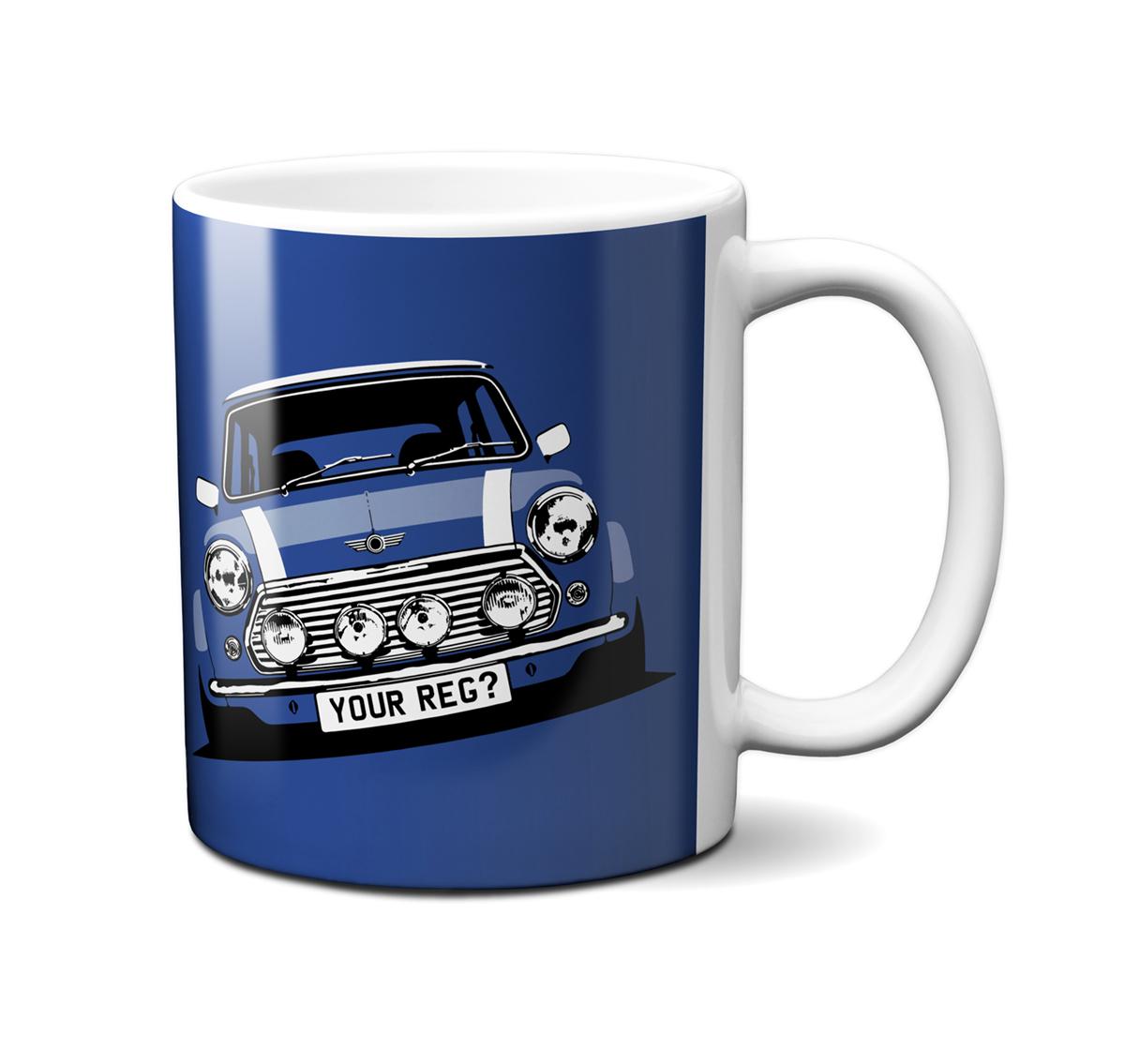 Mini Cooper Tahiti Blue Mug