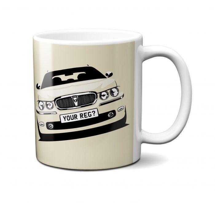 Rover 75 Mug Old English White
