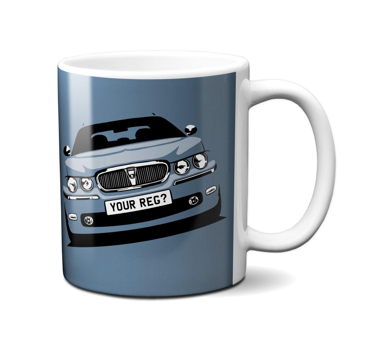 Rover 75 Mug Steel Blue