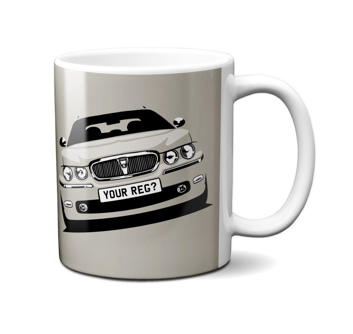 Rover 75 Mug White Gold