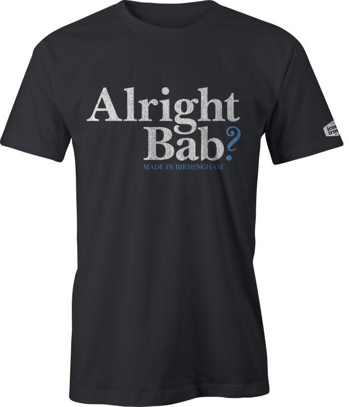 Alright Bab? Made In Birmingham t shirt in black