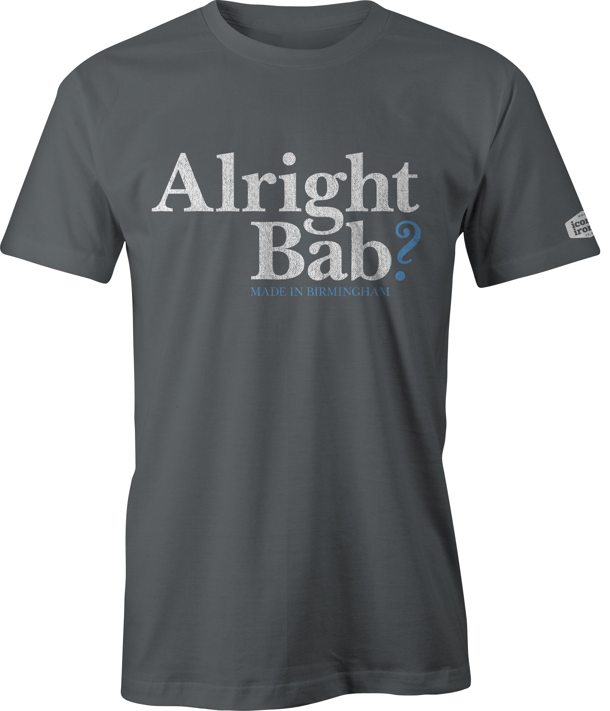 Alright Bab? Made In Birmingham t shirt in charcoal