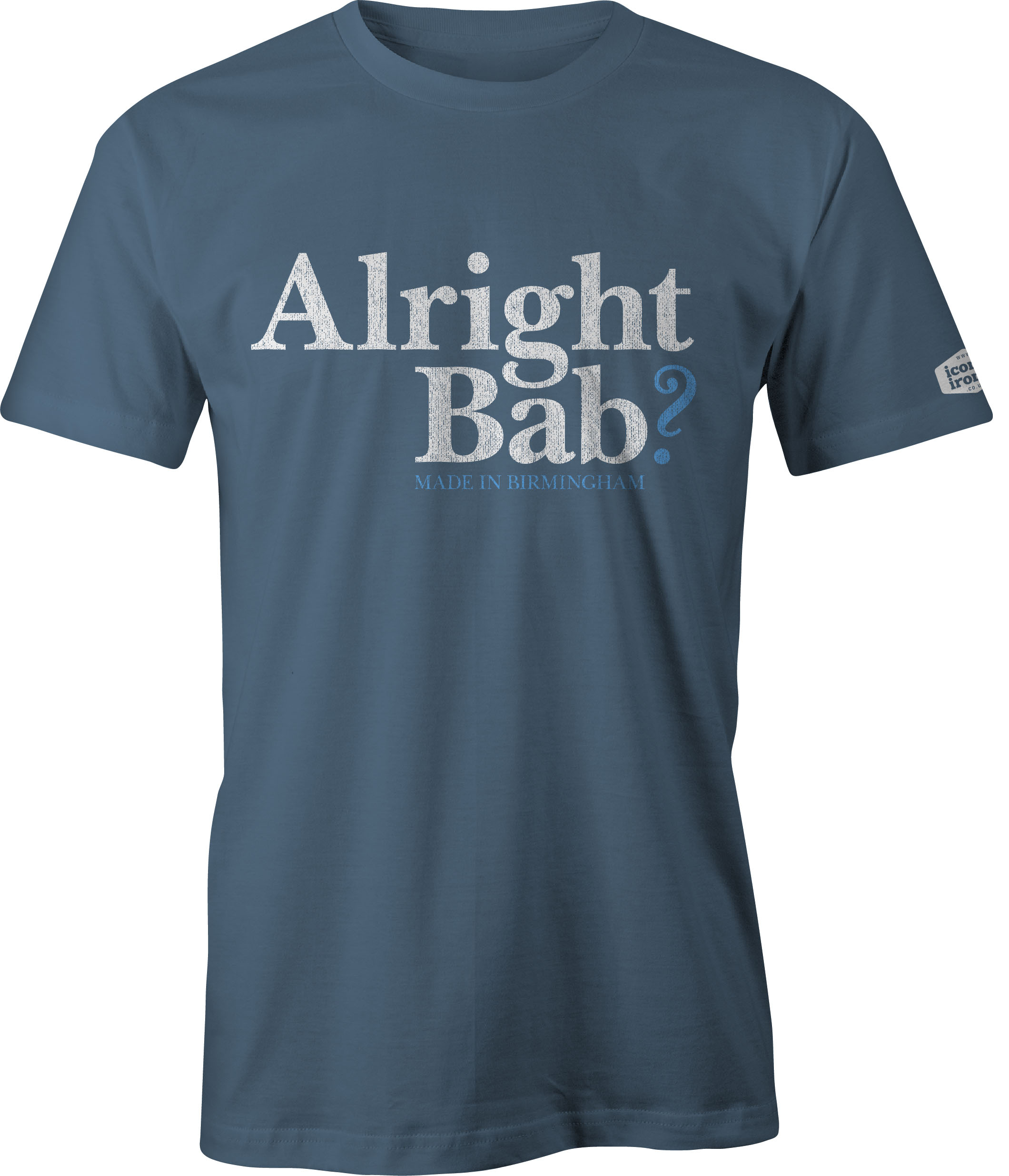 Alright Bab? Made In Birmingham t shirt in indigo blue