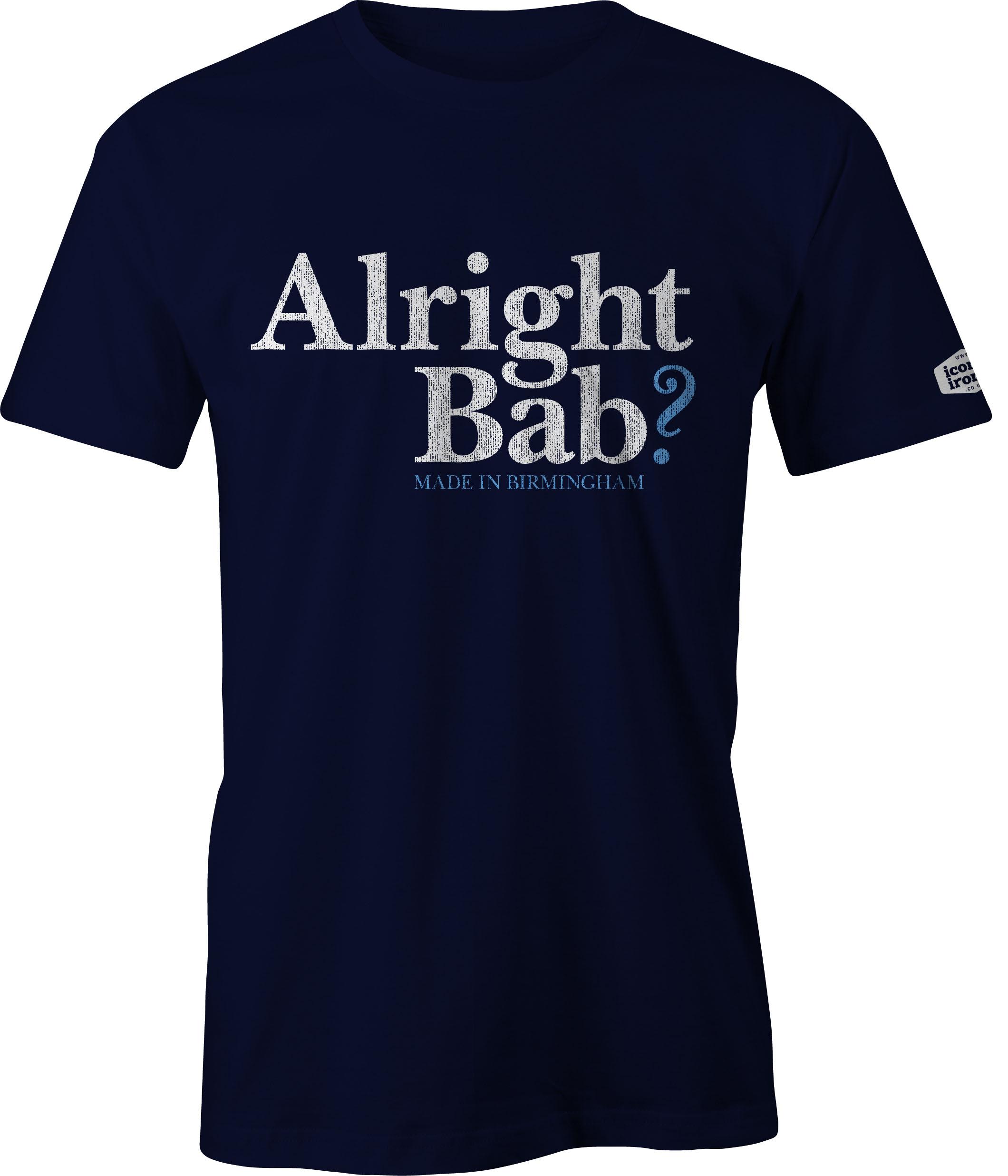 Alright Bab? Made In Birmingham t shirt in navy
