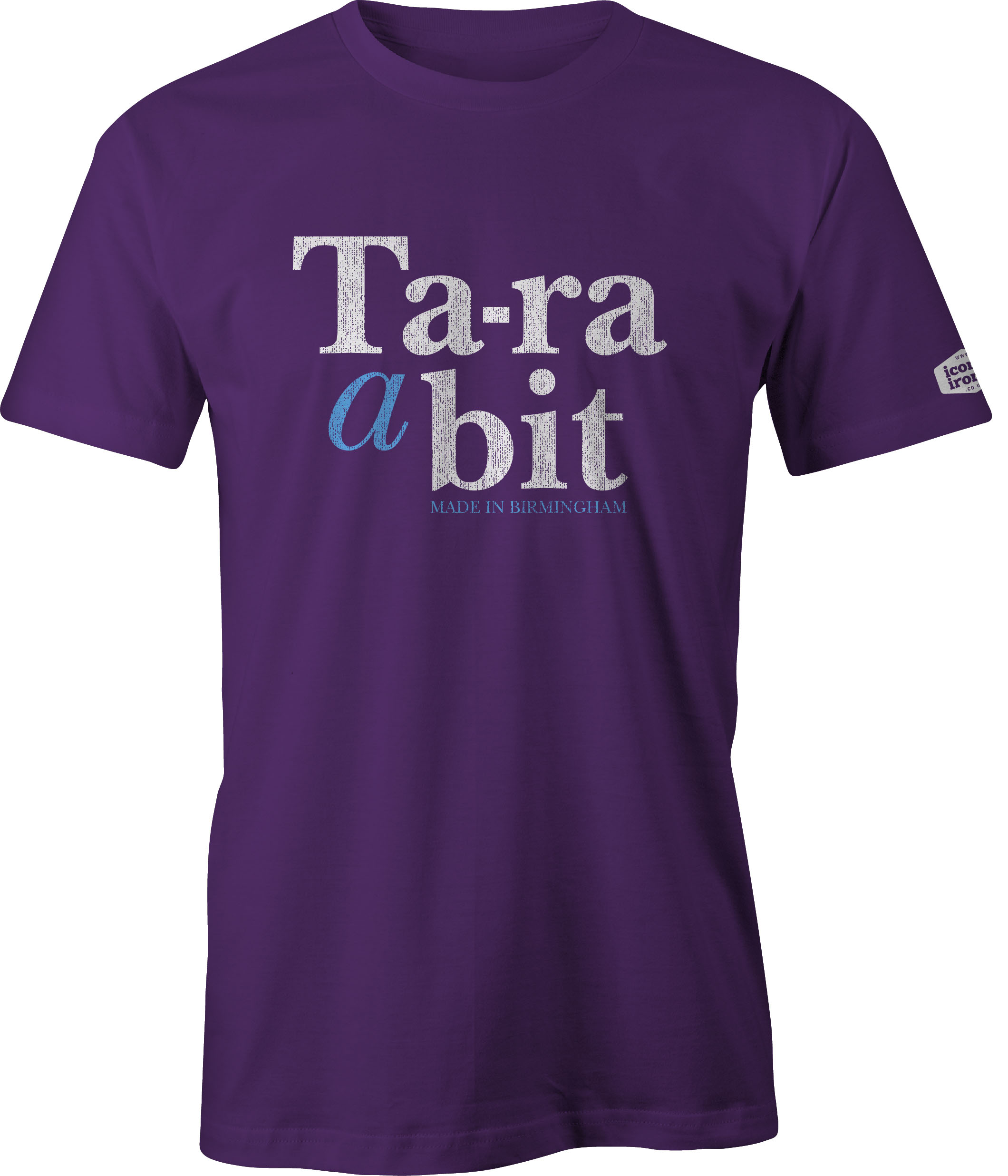 Ta-ra a bit Made In Birmingham t shirt in purple