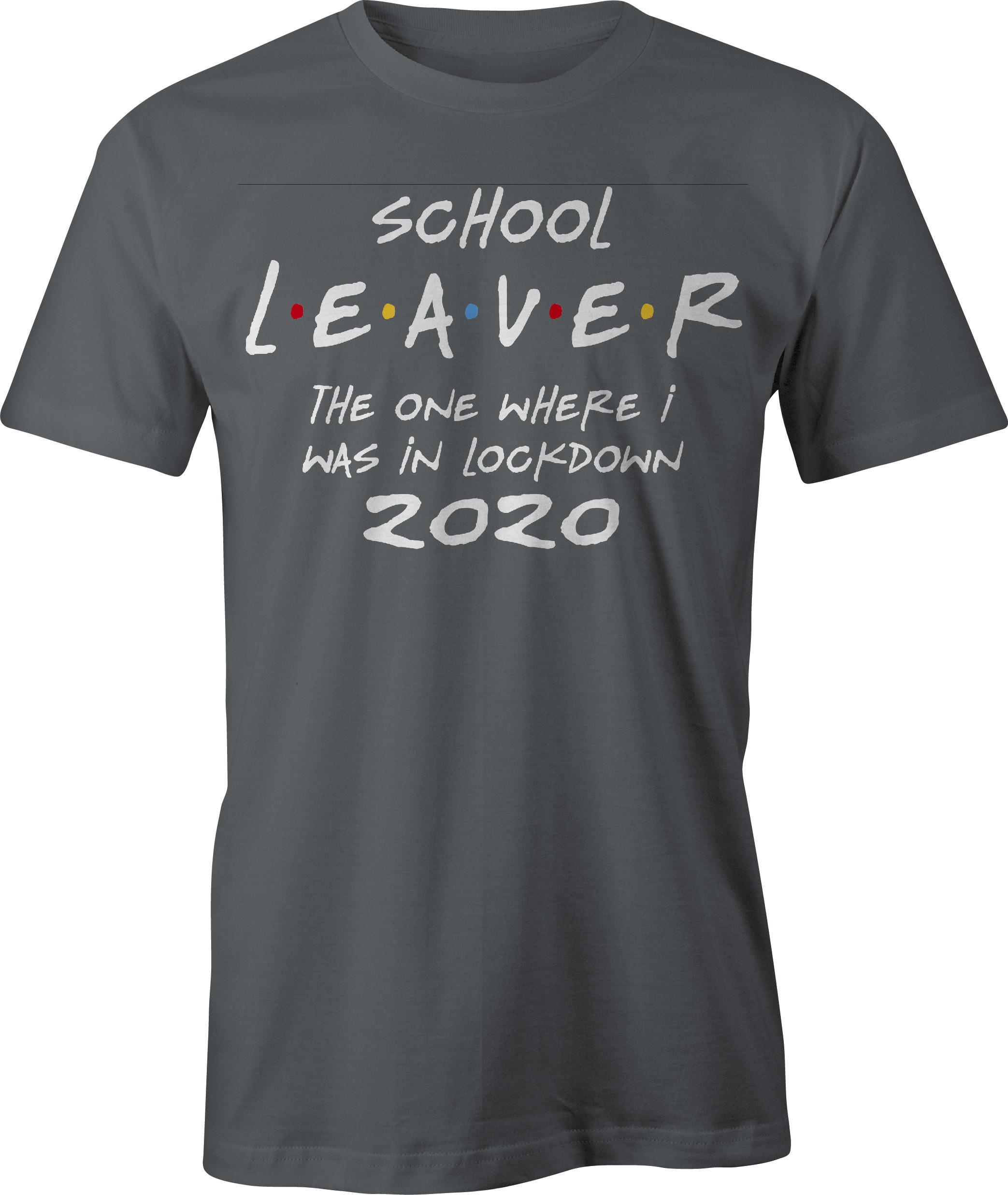 School leaver in lockdown t-shirt - charcoal