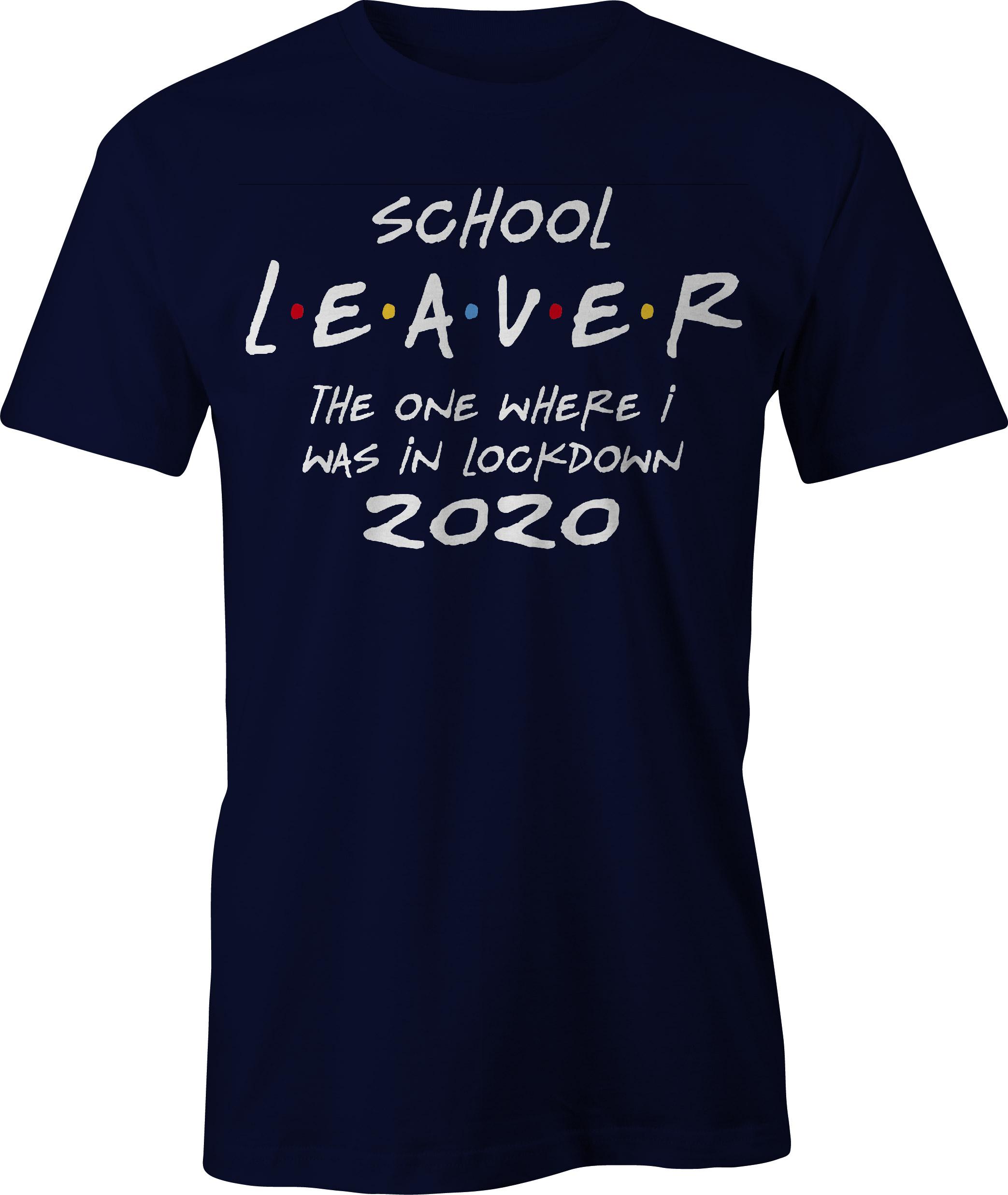 School leaver in lockdown t-shirt - navy