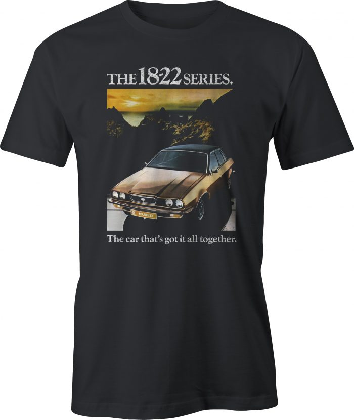 Wolseley 18-22 Series (Leyland Princess) retro ad t shirt in black