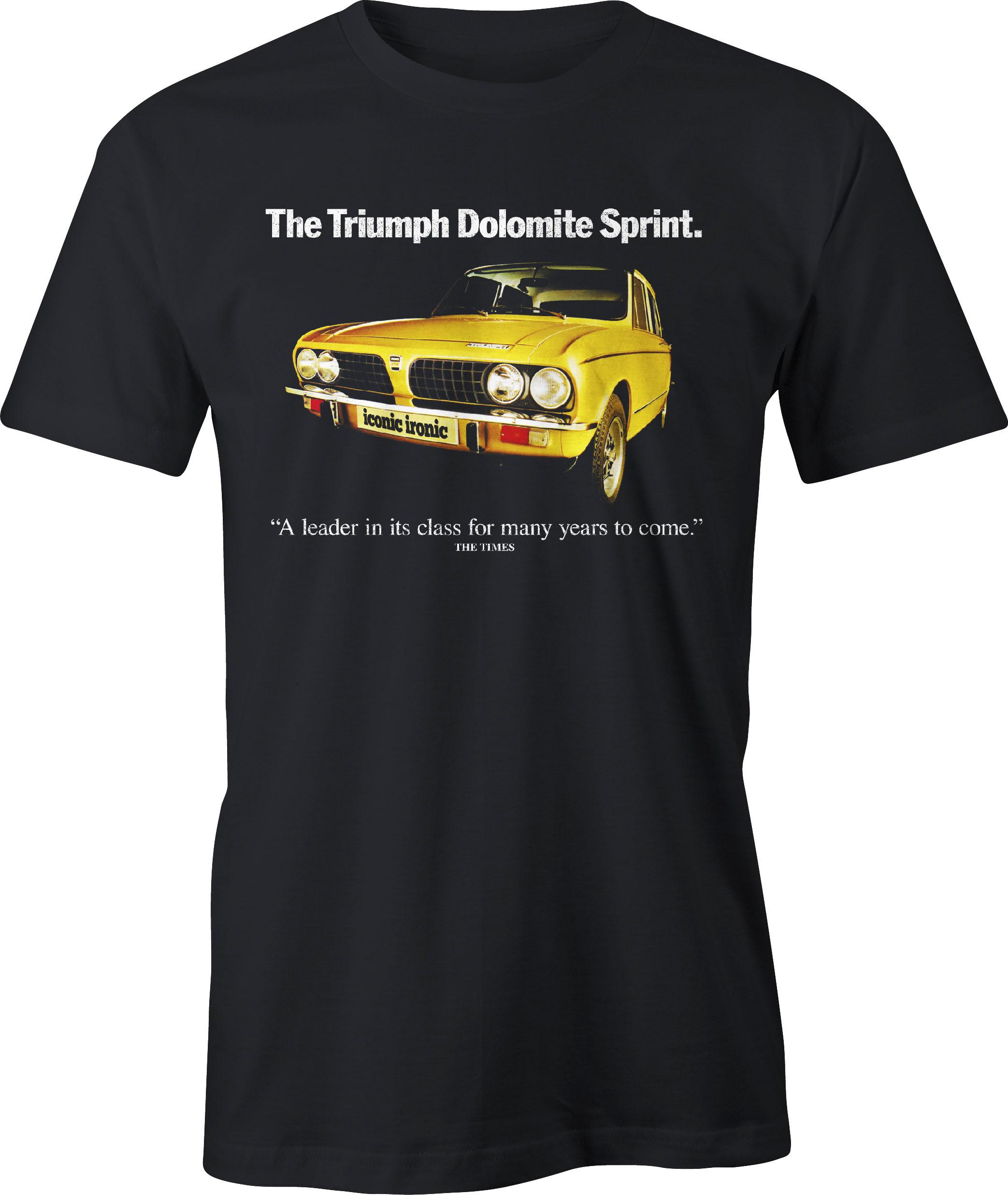 Triumph Dolomite Sprint retro ad t shirt in black