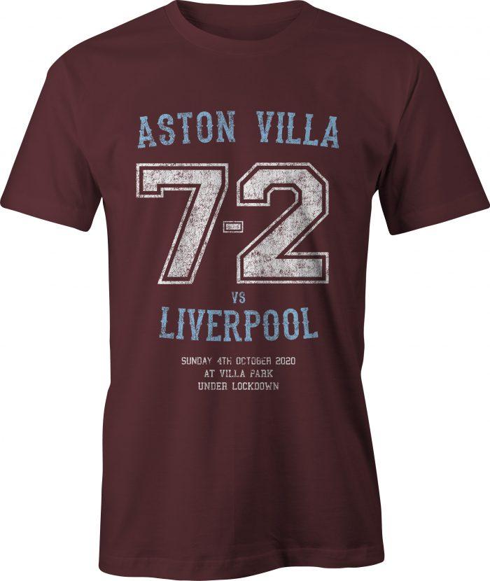 Aston Villa versus Liverpool 7-2 victory t-shirt