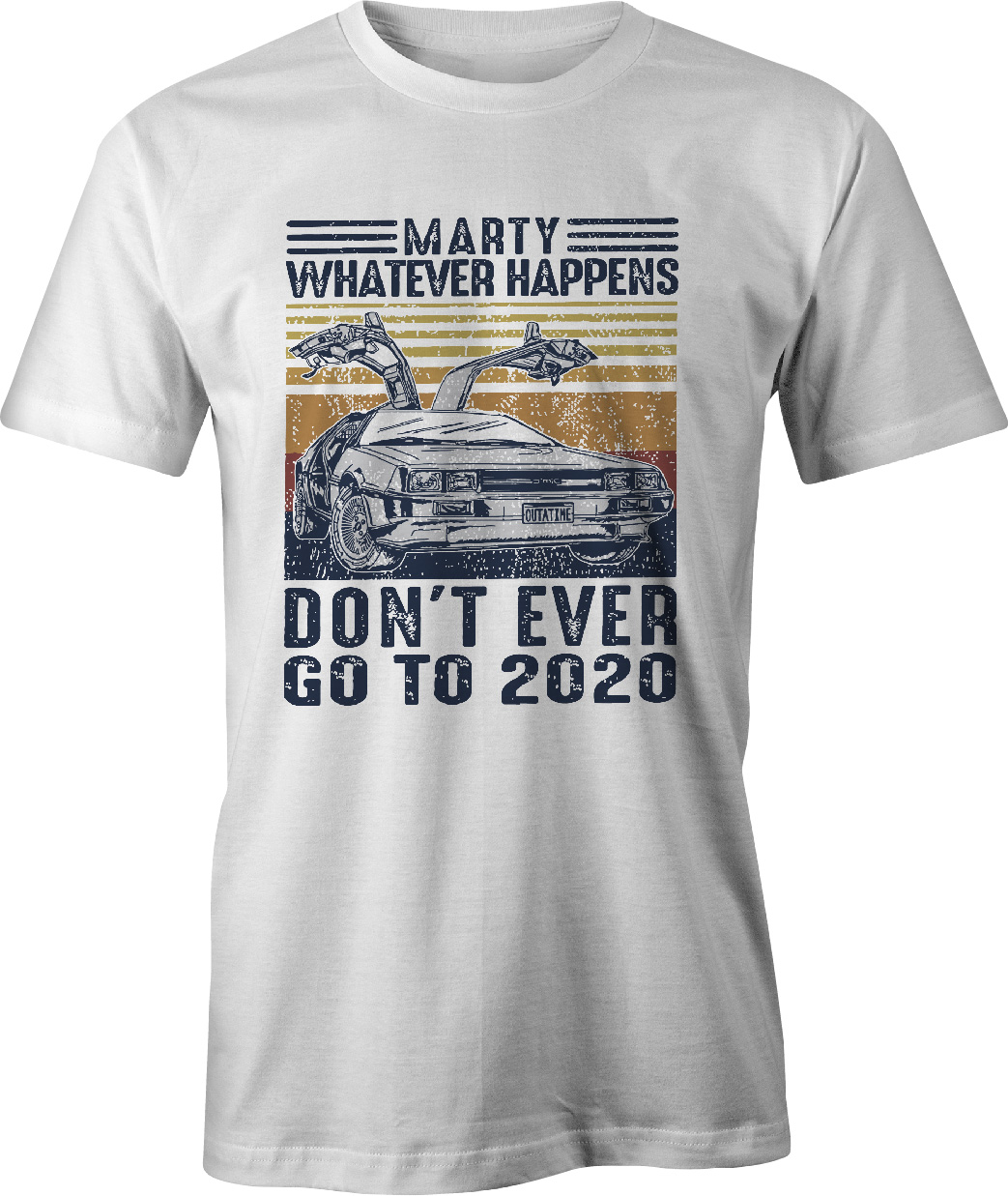 Back To The Future Don't Ever Go Back to 2021 T Shirt in white