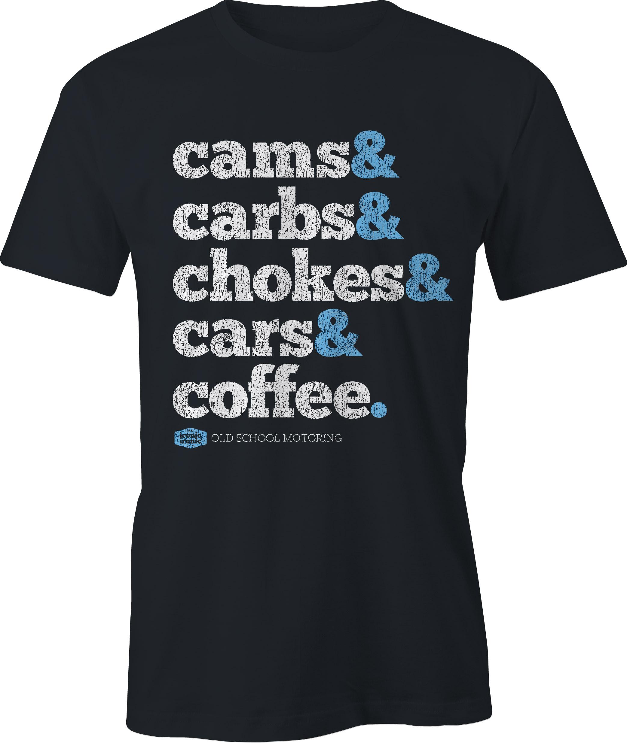Cams & Carbs Wording Black T Shirt