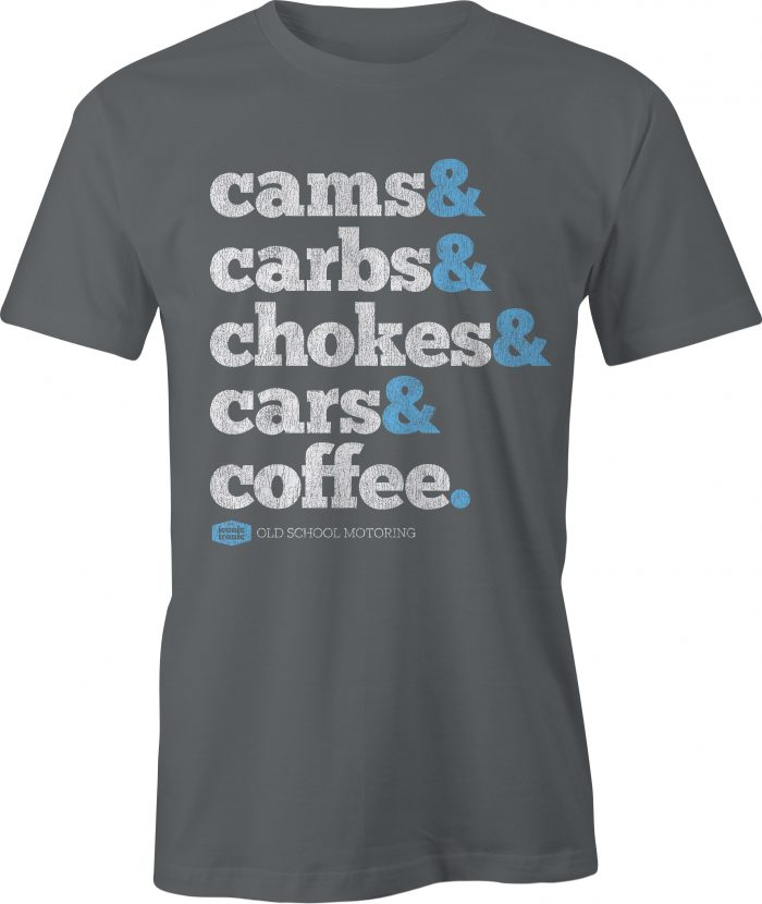Cams & Carbs Wording Charcoal T Shirt