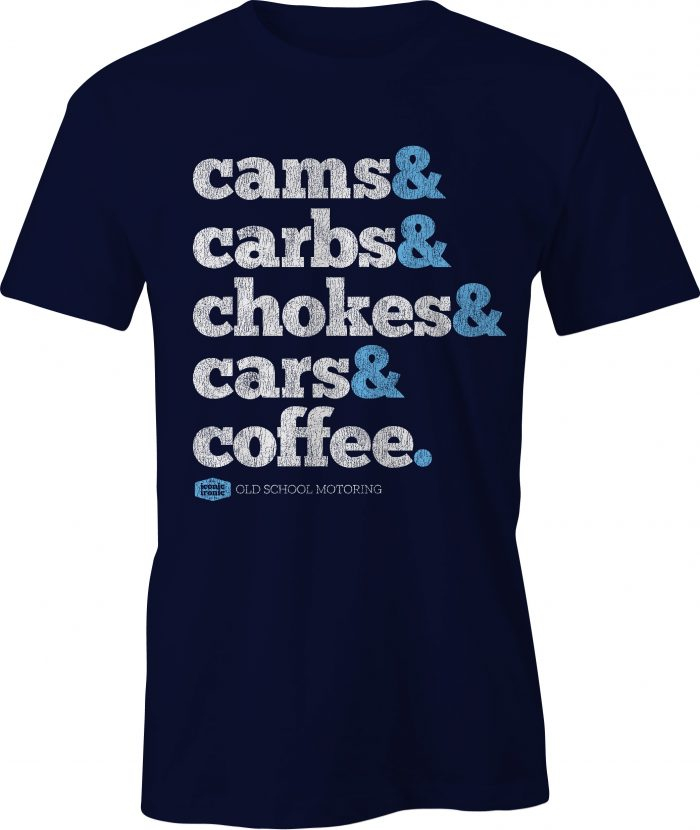 Cams & Carbs Wording Navy T Shirt