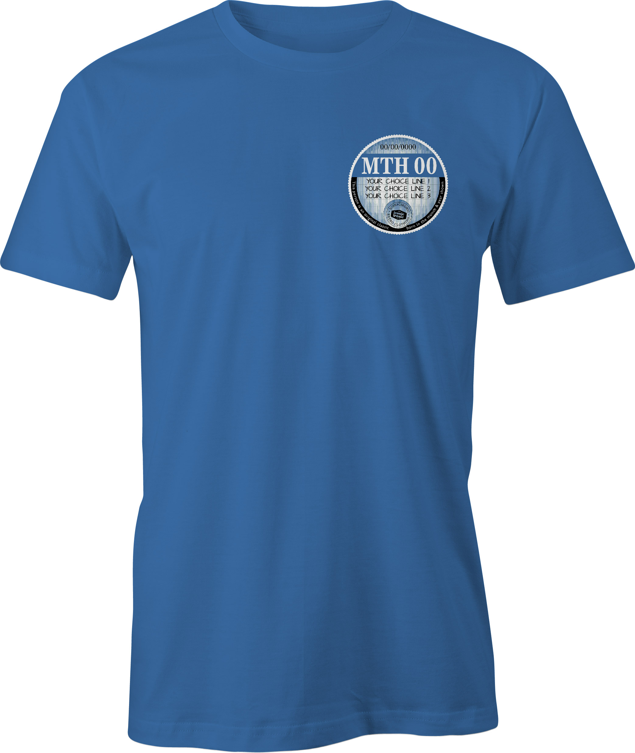 Car Tax T Shirt Royal Blue Left Chest Graphic Generic Example T Shirt