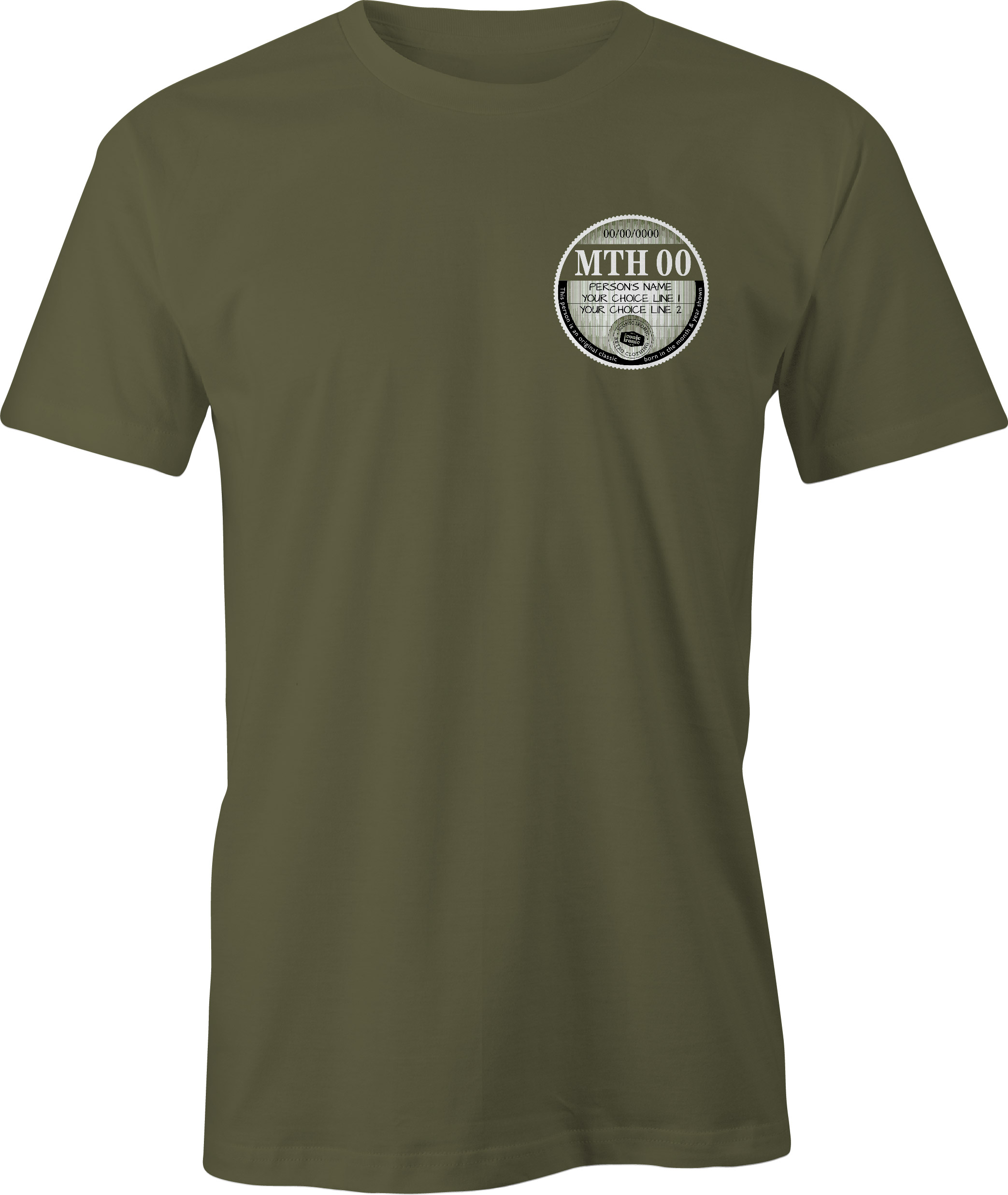 Car Tax T Shirt Military Green Left Chest Graphic Generic Example T Shirt