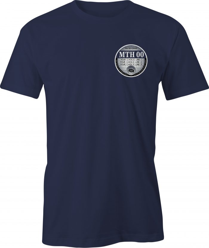 Car Tax T Shirt Navy Left Chest Graphic Generic Example T Shirt