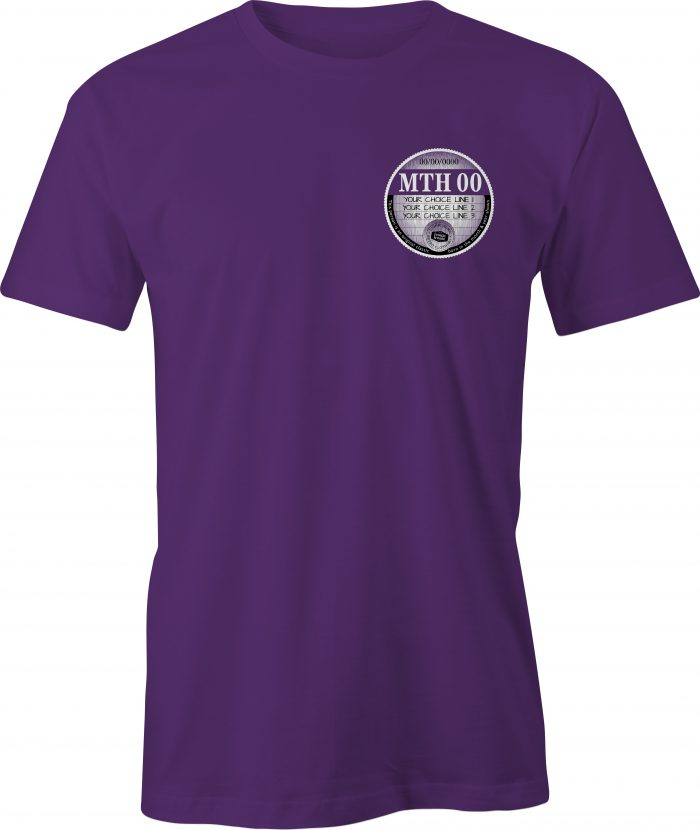 Car Tax T Shirt Purple Left Chest Graphic Generic Example T Shirt