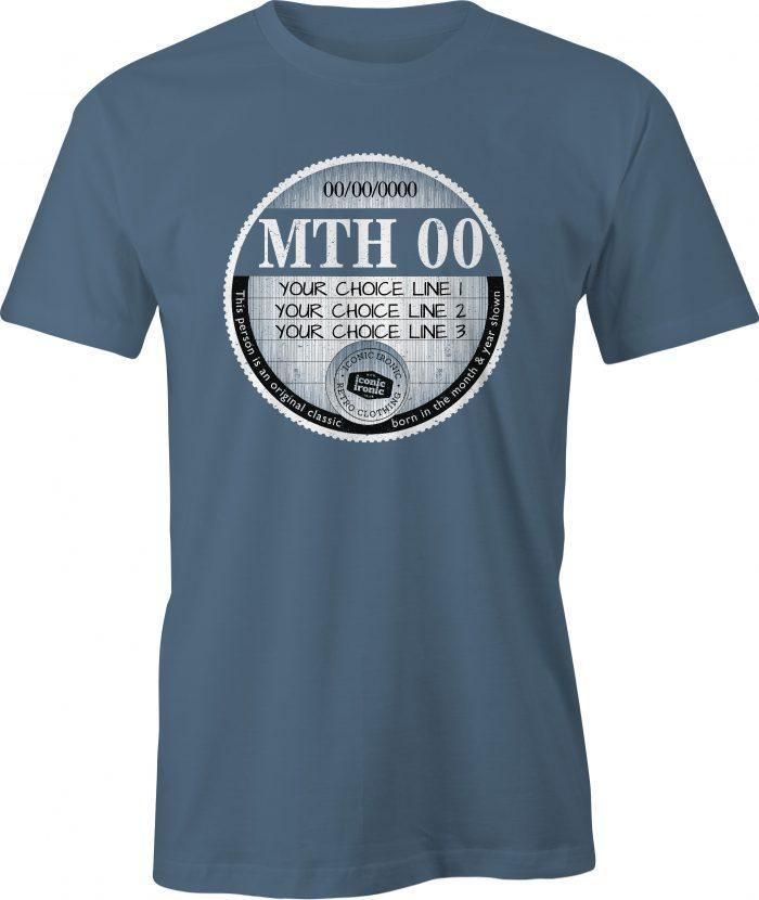 Indigo car tax t-shirt with large graphic
