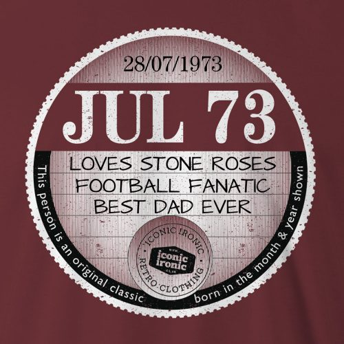 Close up of large father's day tax disc graphic