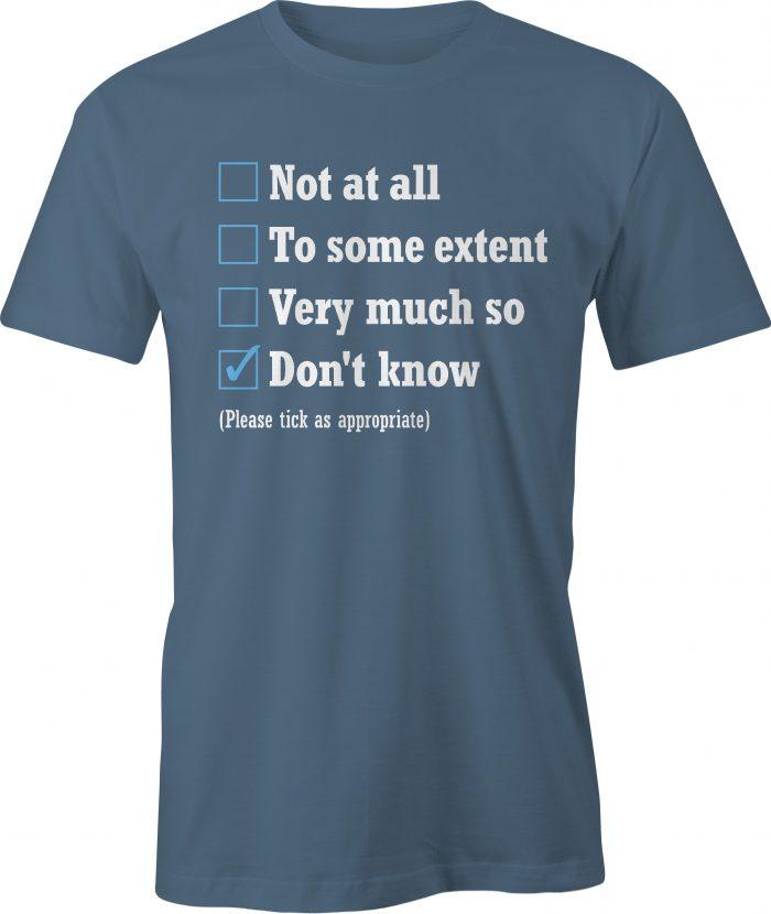 The Office appraisal t shirt in indigo blue