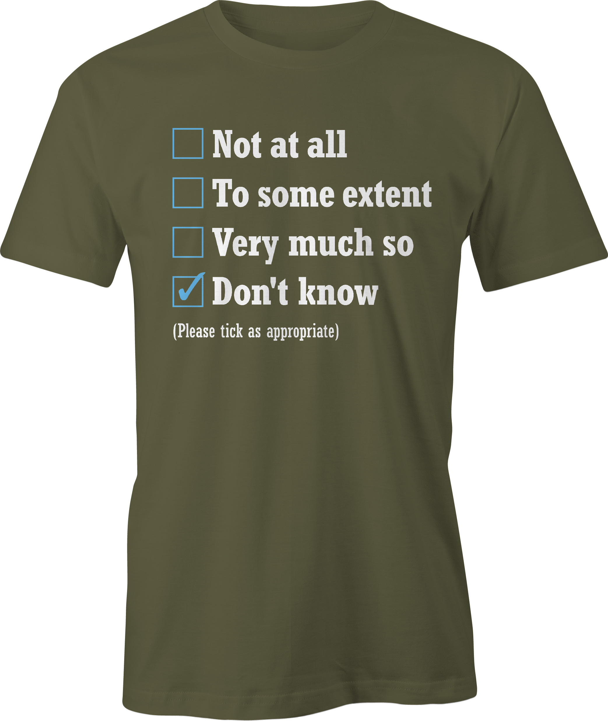 The Office appraisal t shirt in military green