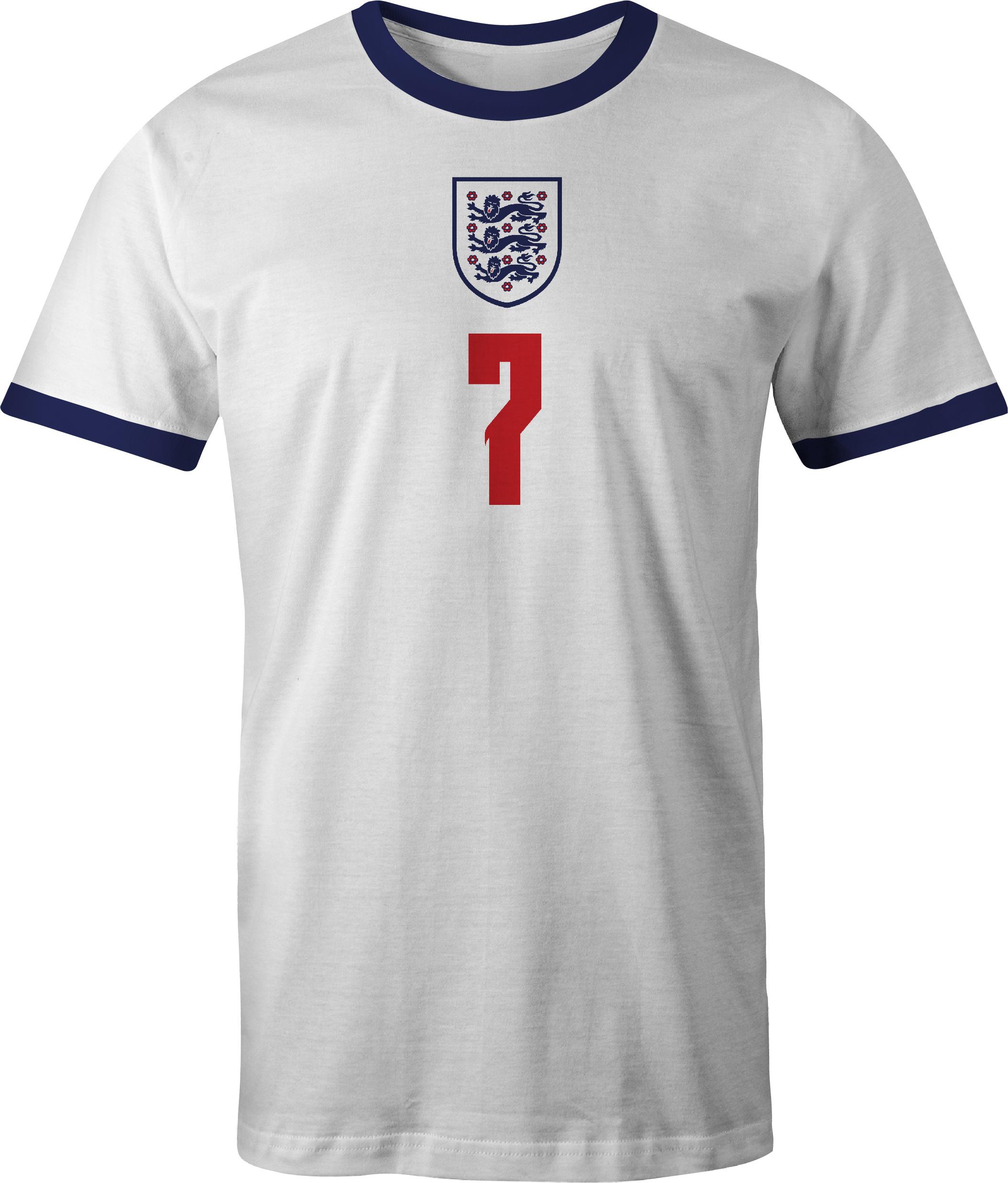 England Jack Grealish No 7 Euro 20 T Shirt front