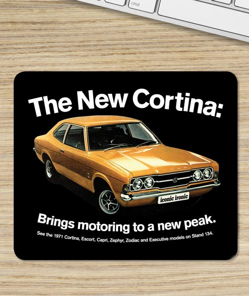 Ford Cortina Mk3 GT Press Ad on Mouse Mat